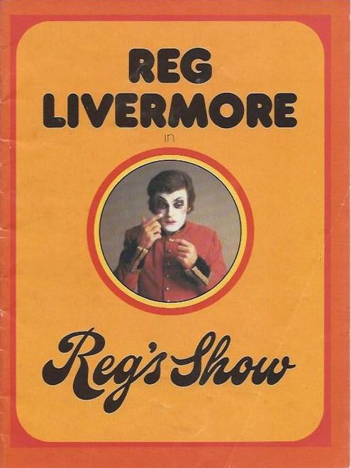 "Reg's Show ""Betty Blokk-Buster Follies"" (Musical) Reg Livermore, Peter Batey,Keith Bain Australian 1975 Tour Souvenir Program Size 175 x 230 mm 12 Pages"