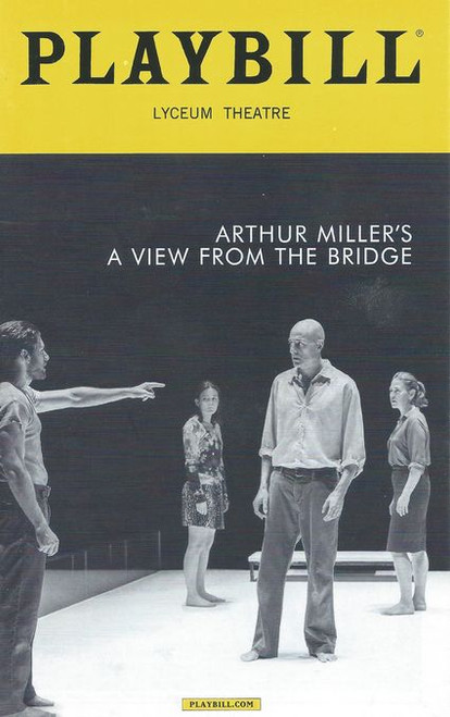 A View from the Bridge is a play by American playwright Arthur Miller, first staged on September 29, 1955 as a one-act verse drama with A Memory of Two Mondays at the Coronet Theatre on Broadway
