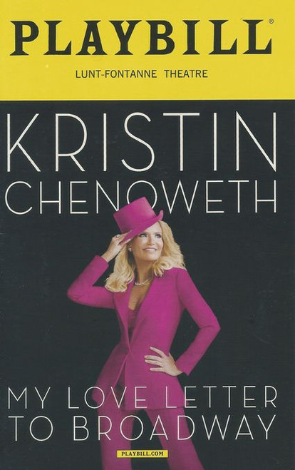 Kristin Chenoweth: My Love Letter to Broadway is a 2016 musical revue / concert, written for and starring American singer and actress Kristin Chenoweth.The show was directed by Richard Jay-Alexander, with musical direction by Mary Mitchell Campbell, and produced by James L. Nederlander.
