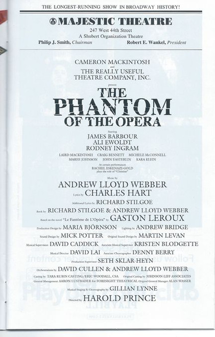 Phantom of the Opera is a musical by Andrew Lloyd Webber, based on the French novel Le Fantôme de l'Opéra by Gaston Leroux. The music was composed by Lloyd Webber, and most lyrics were written by Charles Hart.