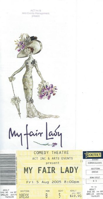 My Fair Lady is a musical based on George Bernard Shaw's Pygmalion, with book and lyrics by Alan Jay Lerner and music by Frederick Loewe. The story concerns Eliza Doolittle, a Cockney flower girl who takes speech lessons from professor Henry Higgins, a phoneticist, so that she may pass as a lady.