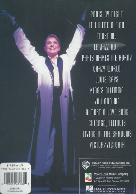 Victor/Victoria is a musical with a book by Blake Edwards, music by Henry Mancini, lyrics by Leslie Bricusse and additional musical material (music and lyrics) by Frank Wildhorn. It is based on the 1982 film of the same name.