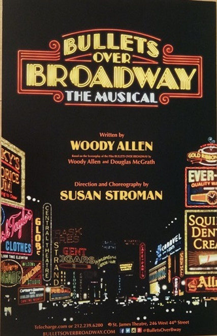 Bullets Over Broadway (Musical) Broadway 2014  Zach Braff - Nick Cordero - Marin Mazzie