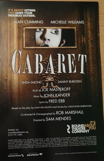 Cabaret (Sept 2014) Alan Cummings – Michelle Williams