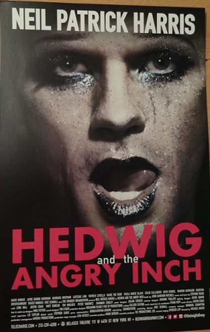 Hedwig and the Angry Inch (Musical) Broadway 2014, Poster Windowcard, Neil Patrick Harris - Lena Hall