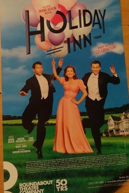 Holiday Inn (Musical) Poster Windowcard 2016, Starring: Bryce Pinkham, Corbin Bleu, Lora Lee Gayer, Studio 54