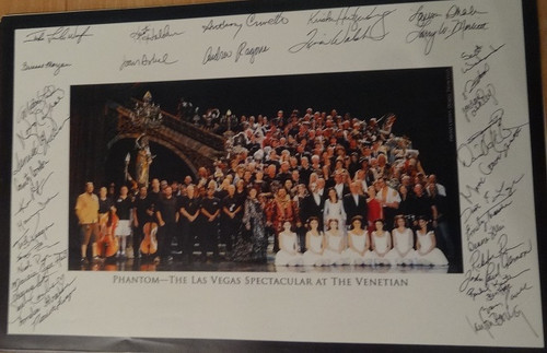The Phantom of the Opera (Musical) Cast Photo Anthony Crivello Las Vegas Spectacular Venetian Resort