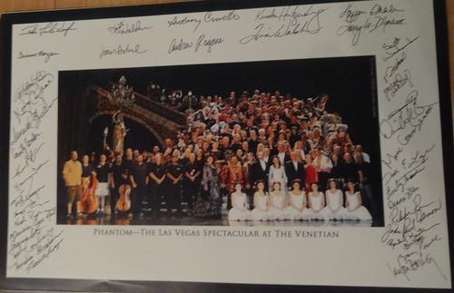 The Phantom of the Opera (Musical) Cast Photo Anthony Crivello Las Vegas Spectacular Venetian Resort