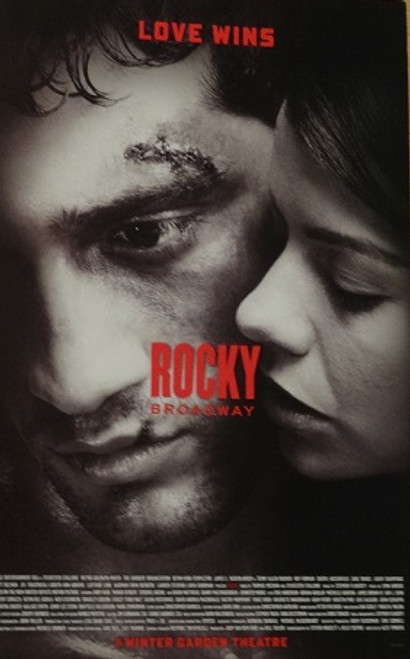 Rocky on Broadway, Poster Windowcard 2014 Andy Karl, Margo Seibert, Terence Archie