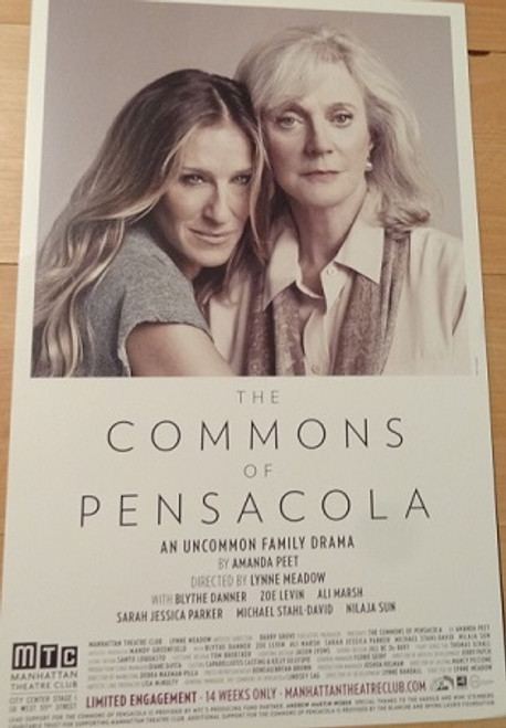 The Commons of Pensacola, Poster, Windowcard, The first produced play by actress Amanda Peet has a lot going for it, including highly emotional performances by Blythe Danner and Sarah Jessica Parker.