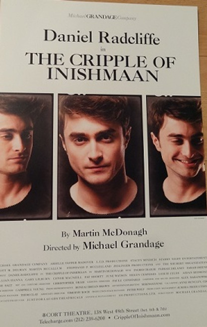The Cripple of Inishmaan Broadway 2014, Poster, Windowcard, Daniel Radcliffe - Ingrid Craigie -  Padraic Delaney - Sarah Greene