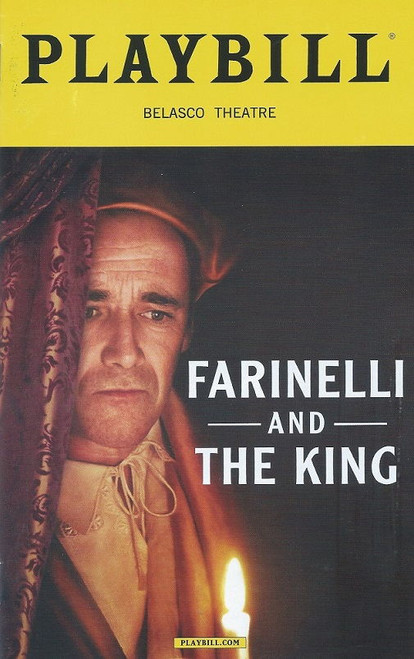 Farinelli and the King Dec 2017 Playbill Theatregold