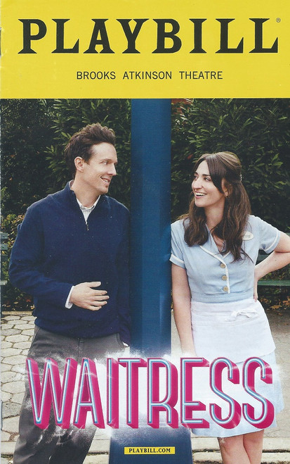 Waiterss Broadway Feb 2018 Playbill / Program  With Sara Bareilles, Jason Mraz  Waitress is a musical with music and lyrics by Sara Bareilles, and a book by Jessie Nelson.