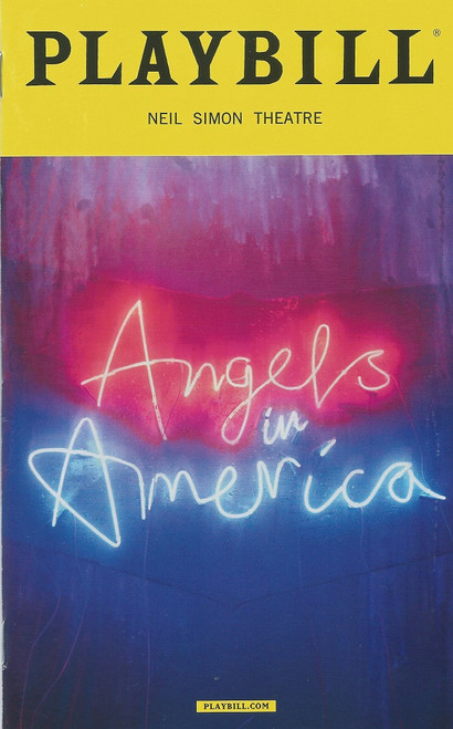 Angels in America (Play) Neil Simon Theatre Playbill March 2018  Angels in America: A Gay Fantasia on National Themes is a play in two parts by American playwright Tony Kushner. It has been made into both a television miniseries and an opera by Peter Eötvös.