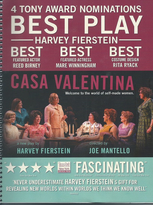 "Casa Valentina is a play about straight men who congregate in the Catskills to dress and act like women. ""Back in 1962, most men went to the Catskill Mountains to escape the summer heat, but others took the two-hour drive to escape something else entirely: being men,"" read press notes about the new work, which is inspired by actual events."