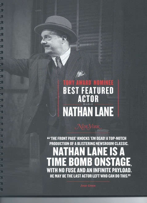 The Front Page is a hit Broadway comedy about tabloid newspaper reporters on the police beat, written by former Chicago reporters Ben Hecht and Charles MacArthur which was first produced in 1928.