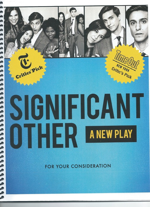 Press Book Gideon Glick, Barbra Barrie Significant Other is an American play written by Joshua Harmon, which premiered Off-Broadway in 2015. The play was produced Off-Broadway by the Roundabout Theatre Company at the Laura Pels Theatre