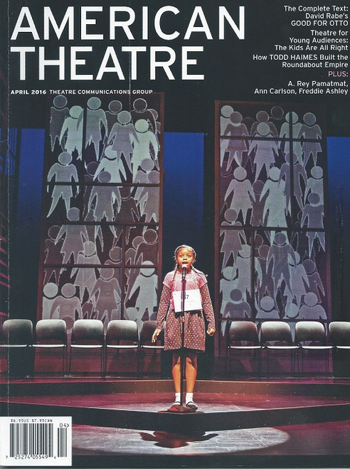 American Theatre Magazine, April 2016 Theatre Communications Group Theatre Communications Group (TCG) is a non-profit service organization headquartered in New York City that promotes professional non-profit theatre in the United States. The organization also publishes American Theatre magazine and ARTSEARCH, a theatrical employment bulletin, as well as trade editions of theatrical scripts.