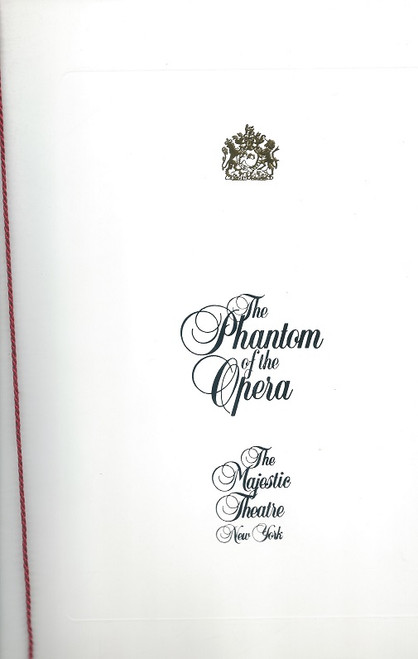 Phantom of the Opera 1994, Souvenir Brochure Broadway, David Gaines, Tracy Shayne, Ciaran Sheehan,   The Phantom of the Opera opened in the West End in 1986, celebrating its 25th anniversary in October 2011