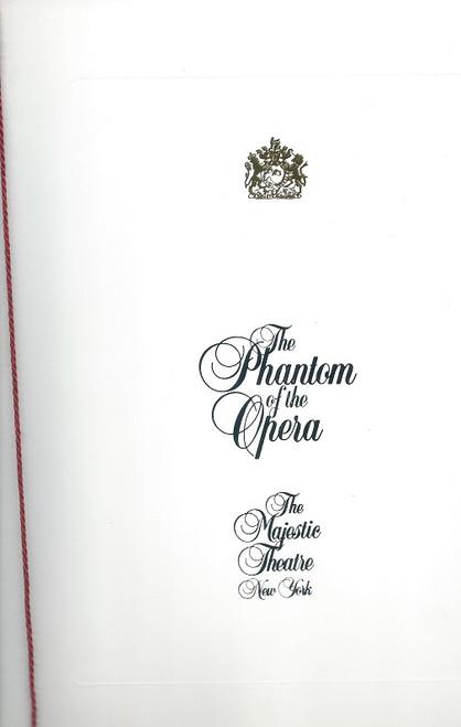 Phantom of the Opera 1994, Souvenir Brochure Broadway, David Gaines, Tracy Shayne, Ciaran Sheehan,   The Phantom of the Opera opened in the West End in 1986, celebrating its 25th anniversary in October 2011