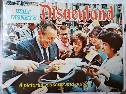 Disneyland Souvenir Brochure 1963, Walt Disney on Cover, Disneyland Park, originally Disneyland, is the first of two theme parks built at the Disneyland Resort in Anaheim, California,