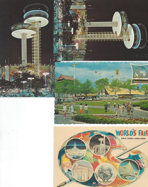 1964 New York World's Fair, Postcard Set 3 and 1 Copy The 1964/1965 New York World's Fair held over 140 pavilions, 110 restaurants, for 80 nations (hosted by 37), 24 US states