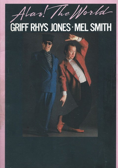 Alas Smith and Jones is a British comedy sketch television series featuring Mel Smith and Griff Rhys Jones that ran for four series and two Christmas specials on BBC2 from 1984 to 1988, and as Smith and Jones for six series on BBC1 from 1989 to 1998. The show also had a brief run in the United States on A&E and PBS in the late 1980s, as well as on CBS in the early 1990s during their late-night block and toured Australia in 1989 based on the show.