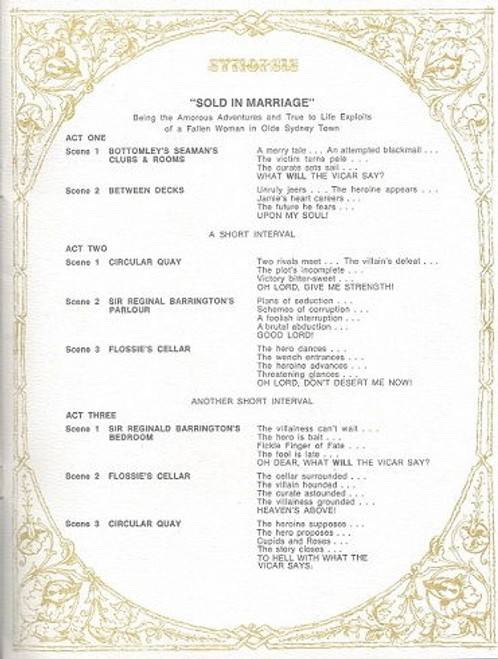 The Music Hall Theatre Restaurant - Sold in Murder, Music Hall Theatre Restaurant Sydney 1961 - 1980  The Music Hall Theatre Restaurant - Sold in Marrage (Musical) Hosts are Lorna and George Miller