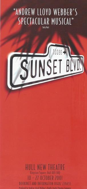 Sunset Boulevard UK Tour Flyer for Hull Hull New Theatre - 2001 (Revival)