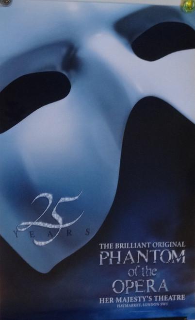 The Phantom of the Opera, London 25th Anniversary Poster