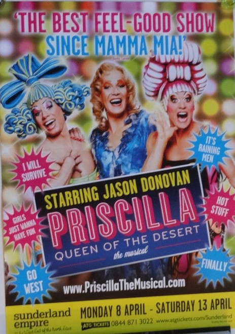 The Adventures of Priscilla, Queen of the Desert, the musical tells the story of two drag queens and a transgender woma