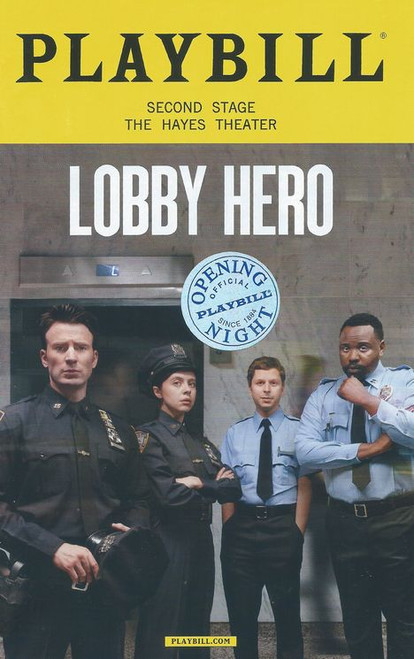 Lobby Hero (March 2018) Opening Night Badge, Cast: Michael Cera, Chris Evans, Brian Tyree Henry, Bel Powley