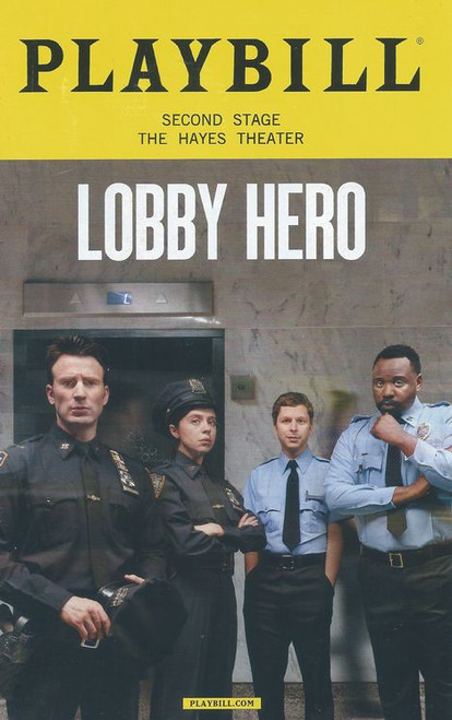Lobby Hero (March 2018) Playbill Cast: Michael Cera, Chris Evans, Brian Tyree Henry, Bel Powley