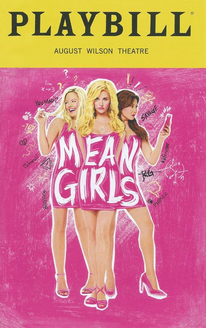Mean Girls Broadway Playbill Sept 2018, Playbill August Wilson Theatre Broadway, Buy Now