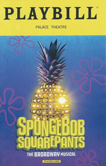 SpongeBob SquarePants (Playbill Jan 2018) Cast: Ethan Slater, Gavin Lee, Lilli Cooper, Brian Ray Norris, Danny Skinner, Wesley Taylor