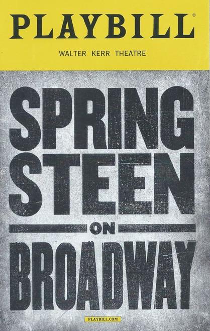 Springsteen on Broadway, Playbill Buy Now, Walter Kerr Theatre on Broadway