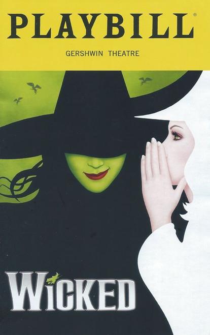 Wicked (Musical) Playbill Sept 2018, Jessica Vosk, Amanda Jane Cooper, Isabel Keating, Kevin Chamberlin, Ryan McCartan, Jye Frasea, Kristen Martin, Martin Moran, Laurel harris, Emily Mechler
