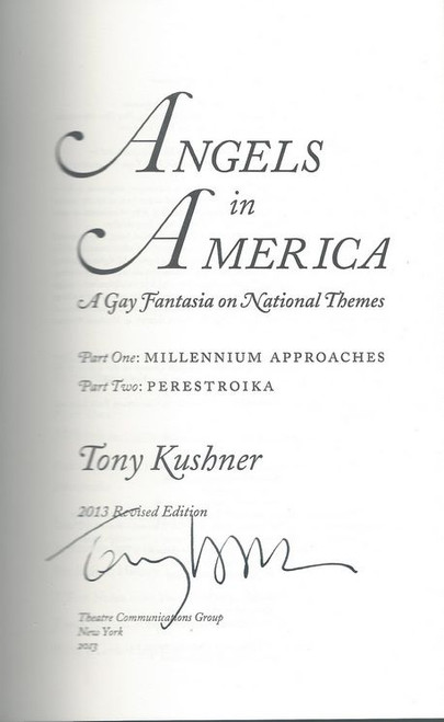Angels in America (Play) Full with both parts, Signed by Tony Kushner, Buy Now