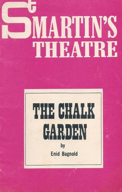 The Chalk Garden 1970 Australian Production, St Martin's Theatre Melbourne - Directed by Nigel Triffitt Cast: Sheila Florance, Norman Kaye, Valma Pratt, Anne Pendlebury, Vivean Gray, Anne Charleston, Peter Norton