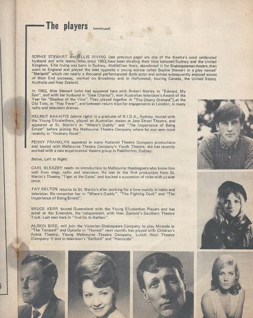 The First Mrs Fraser by John Ervine - 1970, St Martin's Theatre Melbourne - Directed by George Fairfax Cast: Helmut Bakaitis, Penny Franklyn, Ellis Irving, Sophie Steward, Carl Bleazby, Bruce Kerr, Fay Kelton, Alison Bird