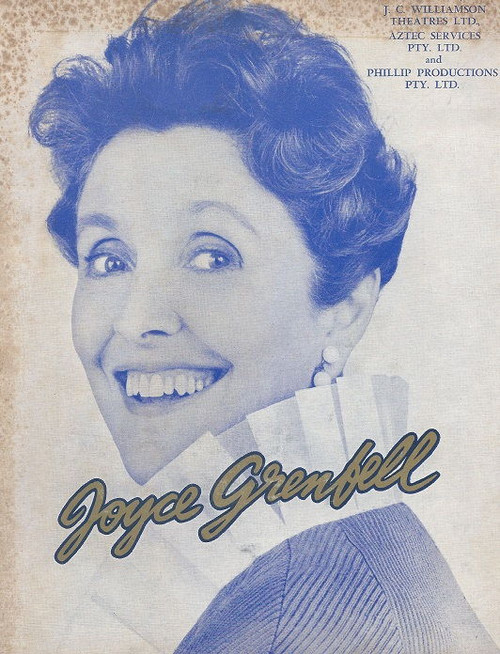 Joyce Grenfell  - Australian Tour 1969, Comedy Theatre Melbourne with William Blezard