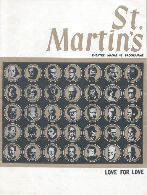 Love For Love by William Congreve 1969 St Martin's Theatre Company Melbourne Cast: David Spurling, Michael Long, Bryon Williams, Paul Eddey, David Foster, Keith Macartney, John Rickard, John Wregg, Patsy King, Pauline Charleston, Marie Redshaw, Mary ann Severne, Janine Steedman