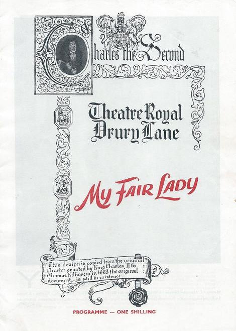My Fair Lady - Theatre Royal Drury Lane London 1963 Cast: Charles Stapley, Tonia Lee, James Hayter, Zena Dare, Tom Chatto