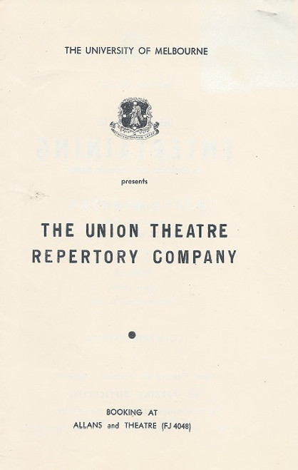Private Lives by Noel Coward 1954 The University of Melbourne - Union Theatre Repertory Company Cast: Sylvia Reid, Alex Scott, Paul Maloney, Maree Tomasetti, Zoe Caldwell
