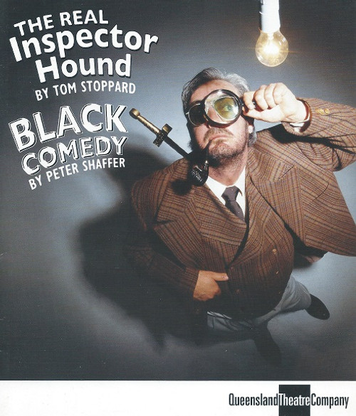 Black Comedy by Peter Shaffer and The Real Inspector by Tom Stoppard Black Comedy is a one-act farce by Peter Shaffer, first performed in 1965.