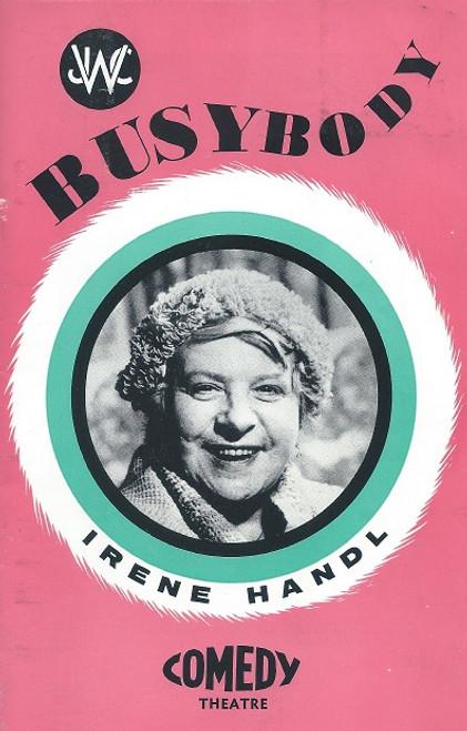 Bustbody (Play) - Irene Handl, Malcolm Phillips, Blair Edgar, Ken Fraser, Penelope Shelton, Comedy Theatre Melbourne 1966  Playbill