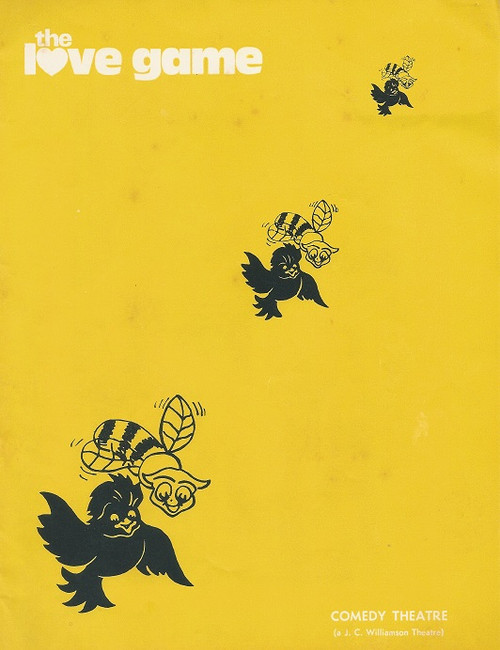 The Love Game By Robin Hawdon - Comedy Theatre Melbourne 1973  Cast: Bernard Cribbins, Ken James, Rona McLeod, Patricia Leehy, Lea Denfield