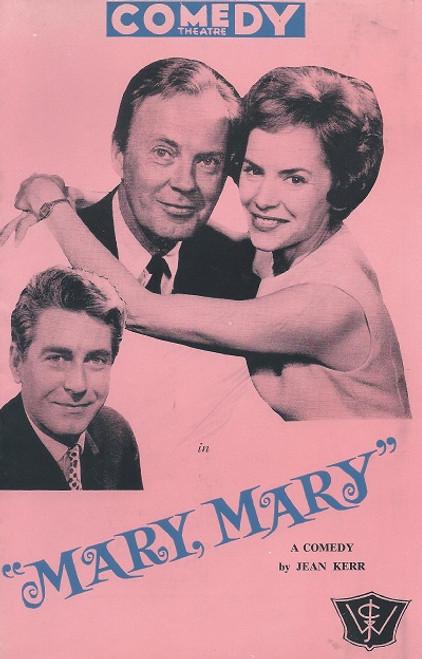 Mary Mary by Jean Kerr Comedy Theatre Melbourne 1963 Cast: Derek Farr, Lorraine Bayly, Edward Howell, Dermot, Muriel Pavlow