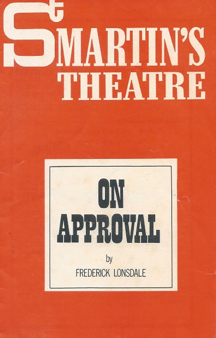 On Approval by Frederick Lonsdale St Martin's Theatre Melbourne 1970 Lynn Rainbow, Bettina Welch, Peter Rowley, Norman Kaye