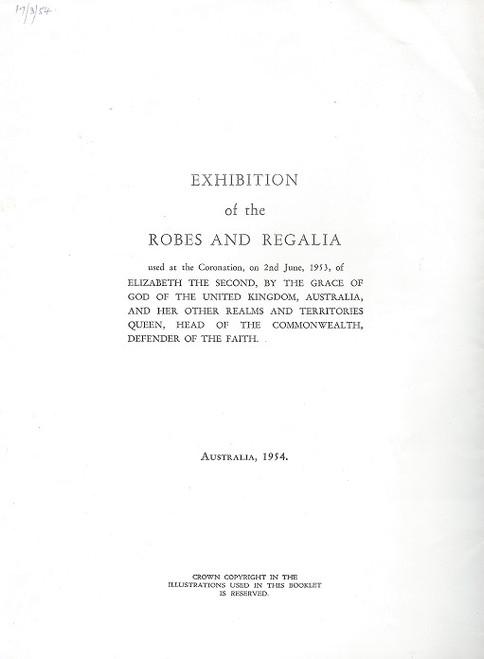 Exhibition of the Royal Robes and Regalia Australia Tour 1954